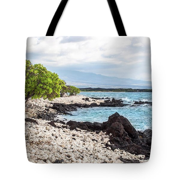 White Coral Coast Tote Bag