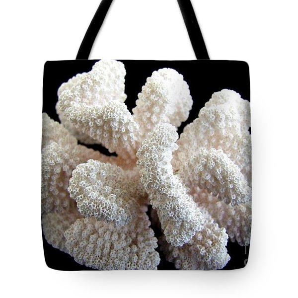 White Coral Tote Bag by Mary Deal