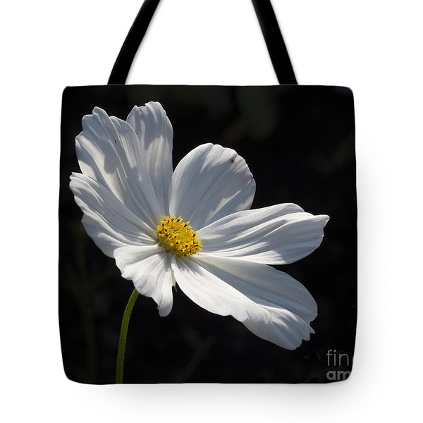 White Cosmos Tote Bag