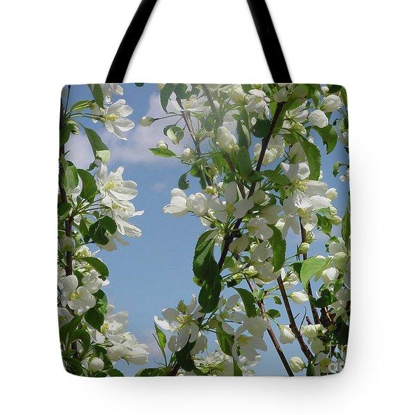 White Crabapple Tote Bag
