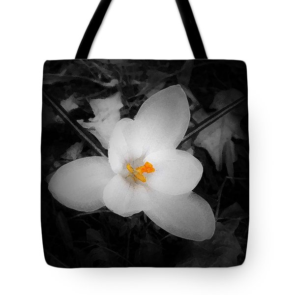 White Crocus - Edit Tote Bag