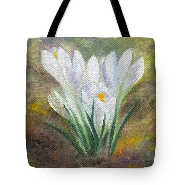 White Crocus Tote Bag