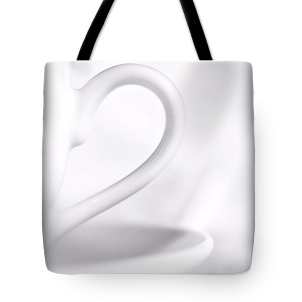 White Cup And Saucer Tote Bag by Josephine Buschman