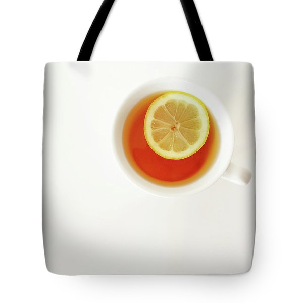 White Cup Of Tea With Lemon Tote Bag