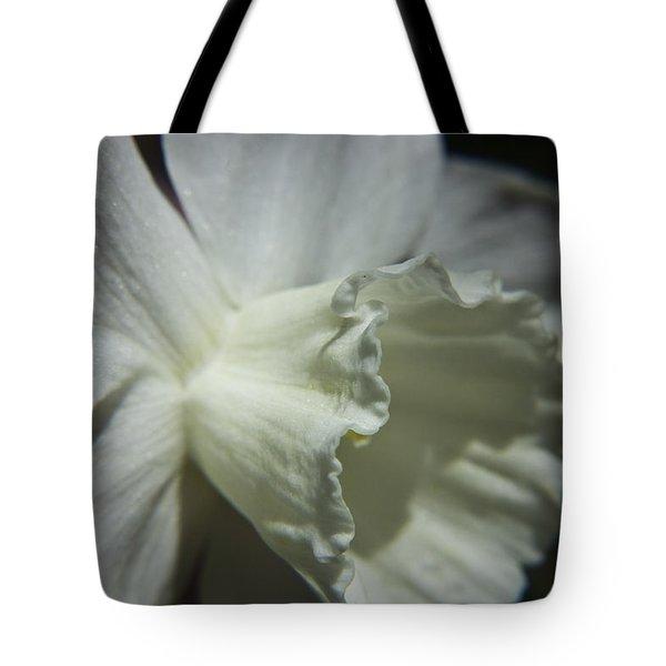 White Daffodil Tote Bag by Teresa Mucha
