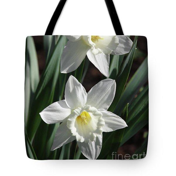 White Daffodils #2 Tote Bag