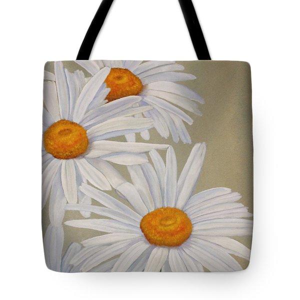 White Daisies Tote Bag