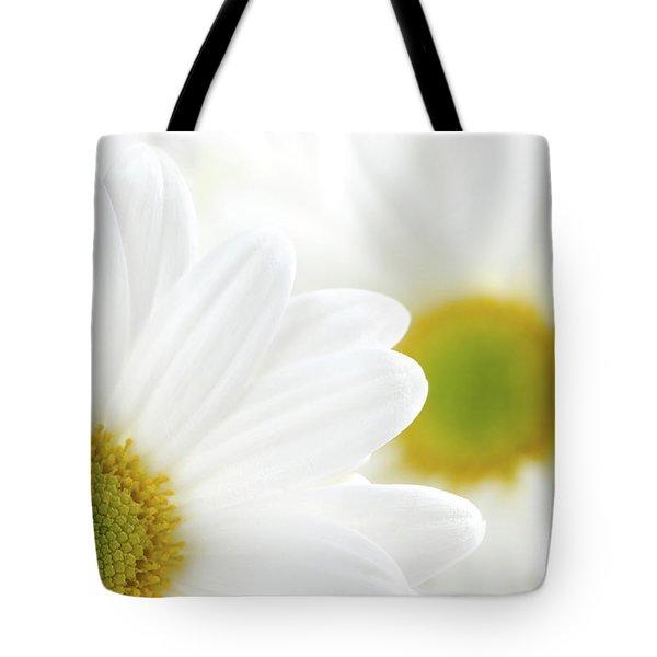 White Daisies Tote Bag by Elena Elisseeva