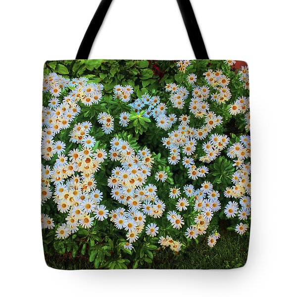 Tote Bag featuring the photograph White Daisy Bush by Roger Bester