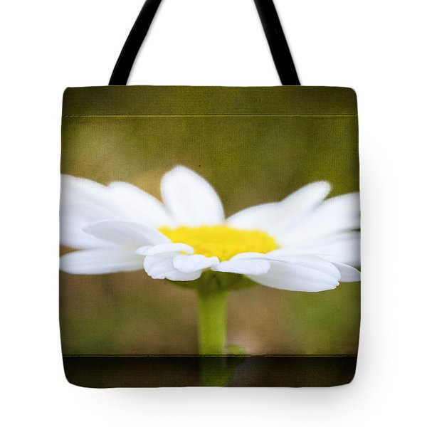 White Daisy Tote Bag by Eduard Moldoveanu