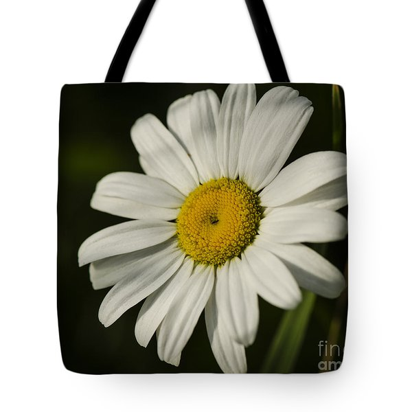 White Daisy Flower Tote Bag