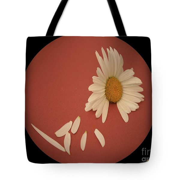 Encapsulated Daisy With Dropping Petals Tote Bag