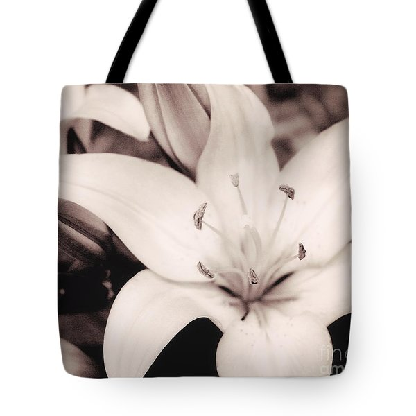 White Day Lily Tote Bag
