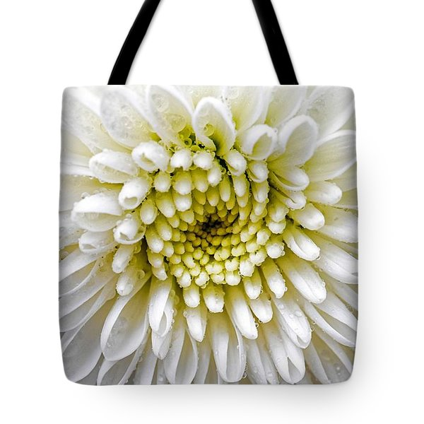 White Dew - Chrysanthemum Tote Bag
