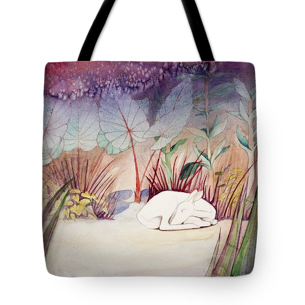 White Doe Dreaming Tote Bag