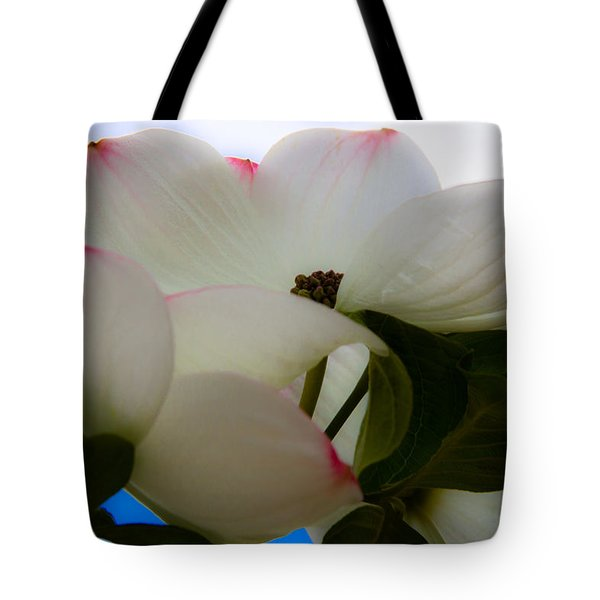 White Dogwood Flower Tote Bag by David Patterson