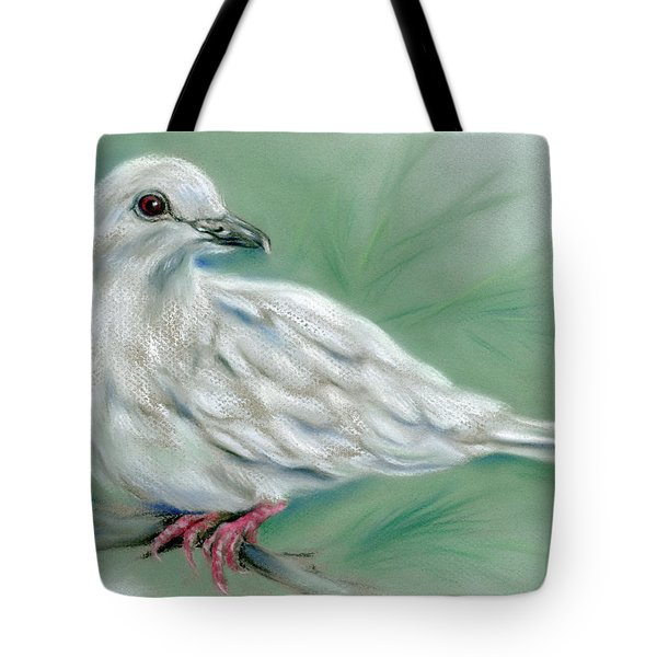 White Dove In The Pine Tote Bag