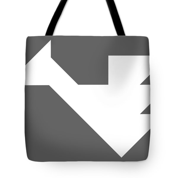 White Dragon Tangram Tote Bag
