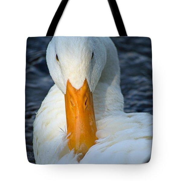 White Duck Primping Tote Bag