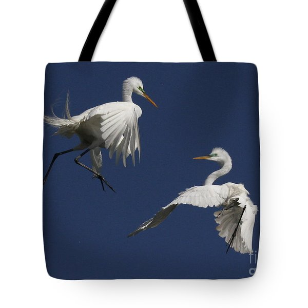 White Egret Ballet Tote Bag