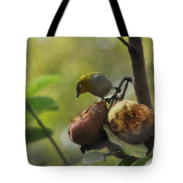White Eye 4 Tote Bag