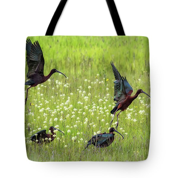 White-faced Ibis Rising, No. 1 Tote Bag
