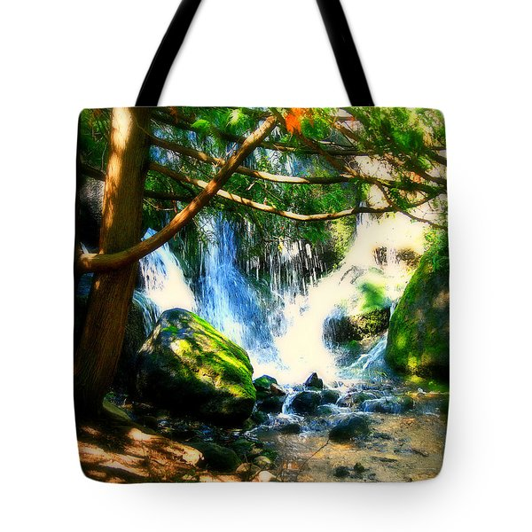 White Falls Tote Bag by Perry Webster