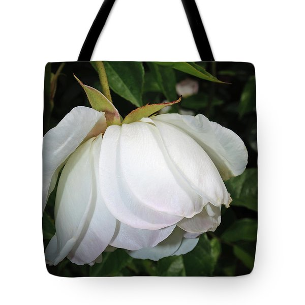 Tote Bag featuring the photograph White Floral by Tikvah's Hope