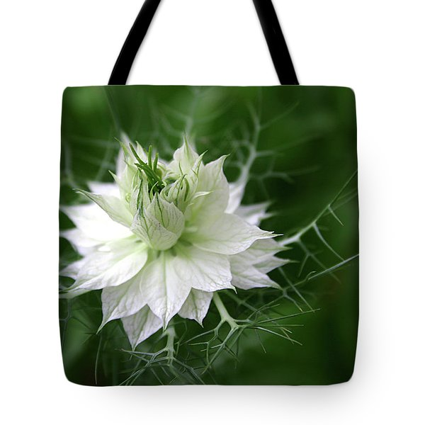 Tote Bag featuring the photograph White Flower by Emanuel Tanjala