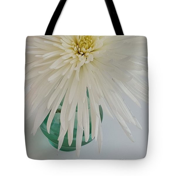 White Flower In A Vase By Jasna Gopic Tote Bag by Jasna Gopic