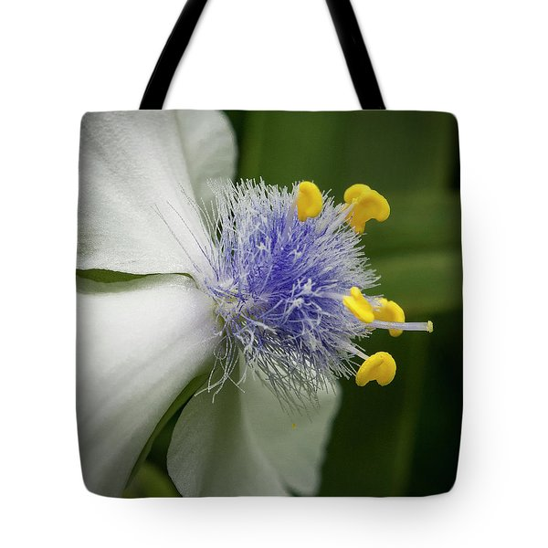 Tote Bag featuring the photograph White Flower by Jean Noren