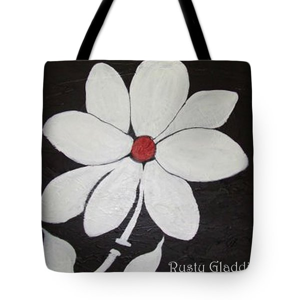 White Flower Tote Bag