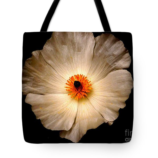 Tote Bag featuring the photograph White Flower by Sylvie Leandre