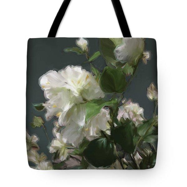 White Flowers 103 Tote Bag