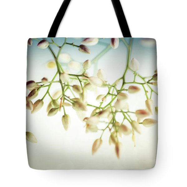 White Flowers Tote Bag by Bobby Villapando