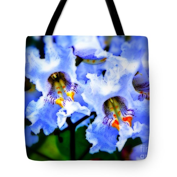 White Flowers Tote Bag by Craig Walters