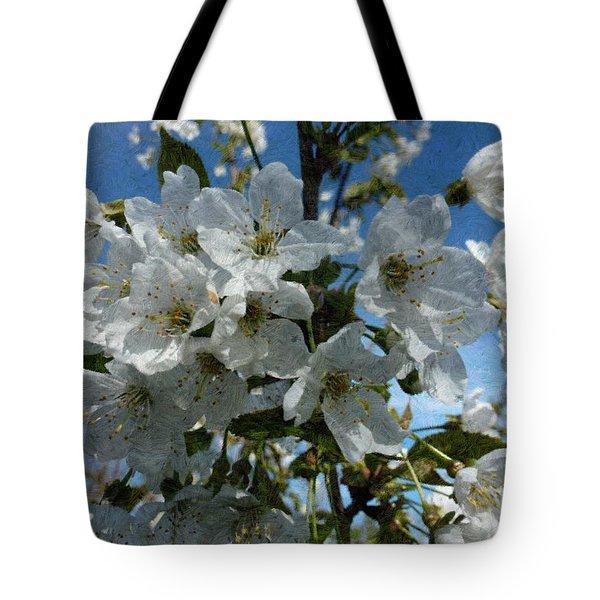 White Flowers - Variation 2 Tote Bag