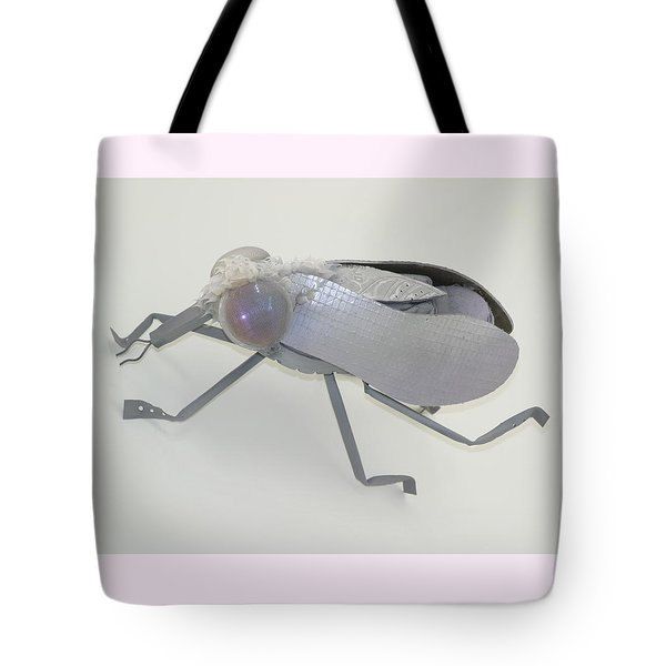 White Fly Tote Bag by Michael Jude Russo