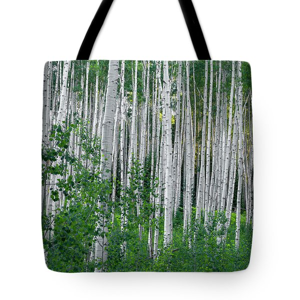 Tote Bag featuring the photograph White Forest by Tim Reaves