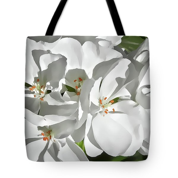 White Geraniums Tote Bag