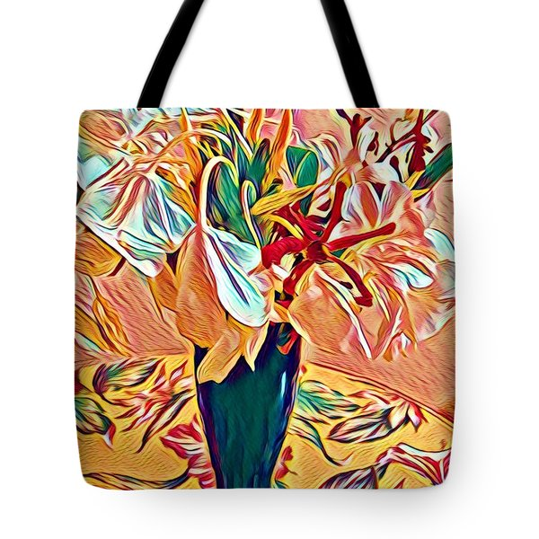 White Ginger In Pink Tote Bag