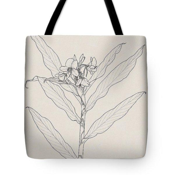 White Ginger Tote Bag