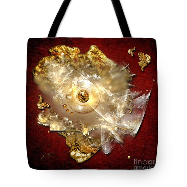 Tote Bag featuring the painting White Gold by Alexa Szlavics