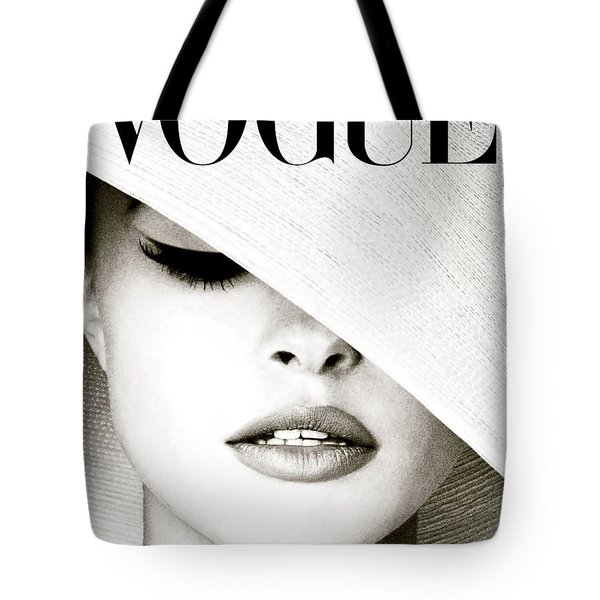 White Hat Cover, Vogue Tote Bag