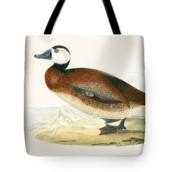 White Headed Duck Tote Bag by English School