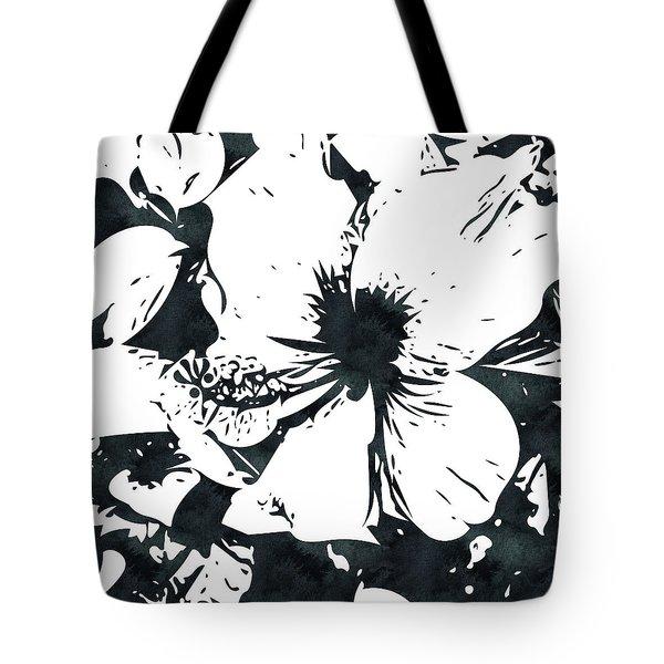 White Hibiscus- Art By Linda Woods Tote Bag