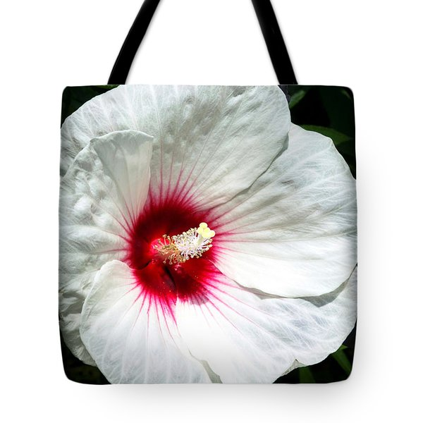 Tote Bag featuring the photograph White Hibiscus by Jackson Pearson