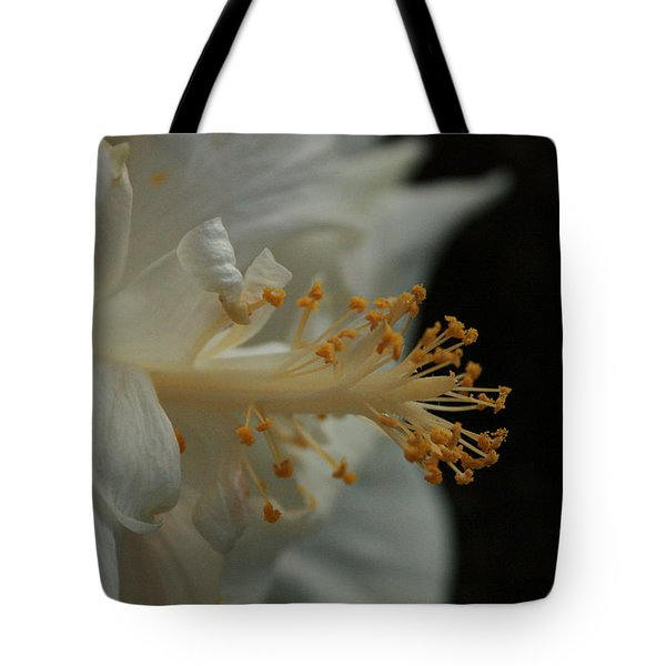 White Hibiscus Tote Bag
