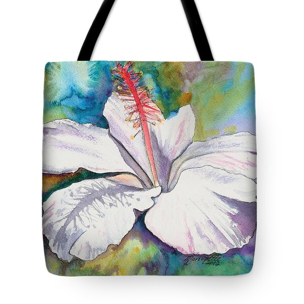 White Hibiscus Waimeae Tote Bag
