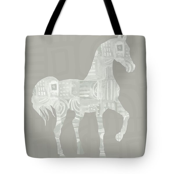 White Horse 1- Art By Linda Woods Tote Bag